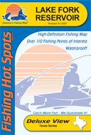 Topographic texas lake maps for Lake fork fishing hot spots